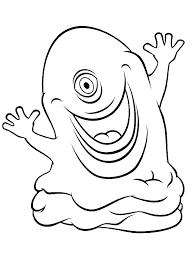 Kleurplaat Blob Monster Uit De Film Monsters Kleurplaatjecom