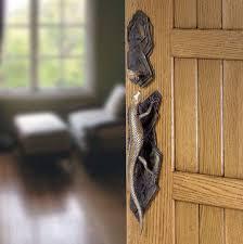 Door pull handle / bronze / contemporary / with lock - LIZARD ...