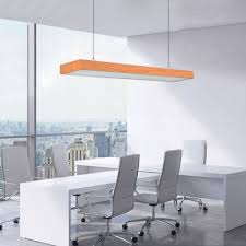 modern minimalist wooden led rectangular chandelier long linear fixture aluminum high bay led lighting in wood