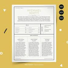 Modern Column Resume A Modern Multi Column Resume Template With Box Sections To