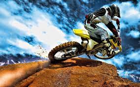 Yellow Enduro Motorcycle Motocross Hd Wallpaper Wallpaper
