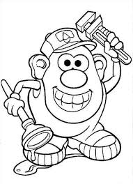 Small Picture Mr Potato Head Coloring Pages To Download And Print For Free