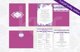 wedding invitations kalidad prints and favors Wedding Invitation Maker In San Pedro Laguna pocket fold wedding invitation purple lace 01