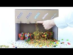 How To Make A Candy Vending Machine Out Of Cardboard Simple How To Make A Candy Machine Made With Cardboard 48 Candies Make It