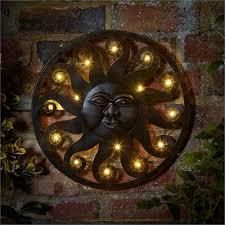 smart garden celestial sun led wall art