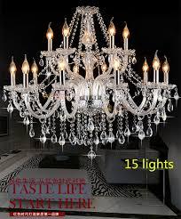 whole 15 lights crystal chandelier led lamps antique chandeliers for living room foyer bedroom