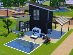 sims 4 modern tiny house no cc