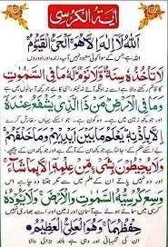ayatul kursi with urdu translation
