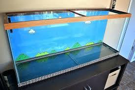 make your own fish tank stand finishing birch woodworking talk 75 gallon create aquarium background m