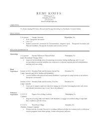 best recreation therapist resume photos simple resume office