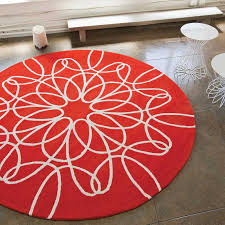 unique large round rugs district17 large round ribbon rug in red and white round oval