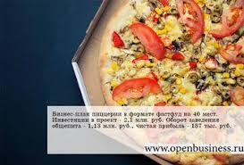 """Финансовый расчет ресторан Бизнес план пиццерии """"ЭкзоПицца"""""""