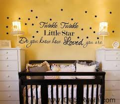 Wall Quotes Classy Twinkle Twinkle Little Star Wall Quotes Vinyl Decal Stickers Kids