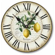 vintage style 12 inch lemon clock