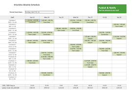 Free Employee Schedule Calendar Free Excel Template For Employee Scheduling When I Work Projects