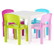 Plastic Table Chair Set Tot Tutors Kids 5 Piece Square Table And Chair Set Reviews