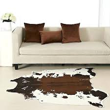 large cowhide rug large cowhide rug tricolor cow hide leather carpet brown white area rugs large
