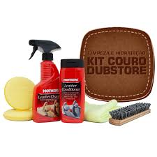 kit limpeza e hidratação de couro mothers