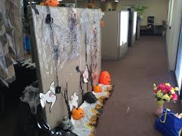 halloween office decorations. Excuse The Bag And Spring Flowers, They Were Going Home With Me When I Took Pictures. Bottom Of Cubicle Wall Has Lots Halloween Lights Office Decorations