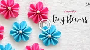 Paper Flower Making Video Diy Tiny Paper Flowers Flower Making Diy