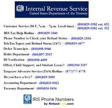 Irs Numbers Refundtalk com Phone ⋆