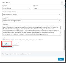 Uploading A Resume To Your LinkedIn Profile Intero Advisory Enchanting How To Upload Resume On Linkedin