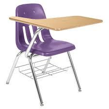 9000 series tablet arm school desk with book rack laminate top