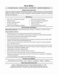 Medical Coding Resume Medical Coding Resume Samples Billing Sample New 28