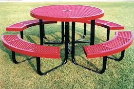webcoat regal round portable table with expanded metal portable round dining table