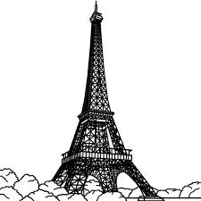 Dessus Coloriage La Tour Eiffel A Imprimer