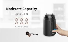 This is not a high end grinder and so it lacks a lot of features. Shardor Electric Coffee Grinder Mill With Stainless Steel Blades 1 4oz 40g Small Coffee Bean Grinder Black