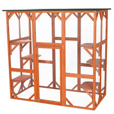 Cat House Trixie 7075 In X 385 In X 7075 In Wooden Outdoor Cat House
