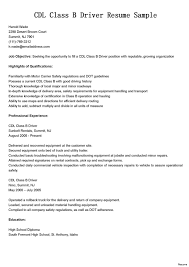 Cdl Resume Sample Commercial truck driver resume sample cdl class b resumes 24 a haul 1