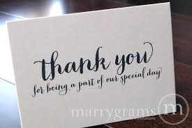 Wedding Thank You Notes Wedding Thank You Note Card Set Misc Thank You For Being A Part