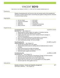 Housekeeping Aide Resume Sample No Experience Resumes Livecareer