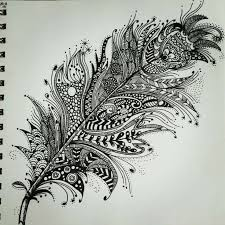 feather patterns zentangle feather patterns step by step google search tattoos