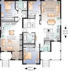 Bungalow Multi Family Plan   Duplex Plans  Bungalows and    Bungalow Multi Family Plan   Duplex Plans  Bungalows and Floor Plans