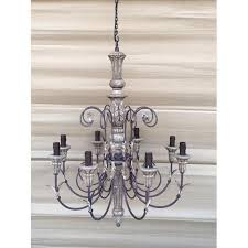 iron faux candle chandelier