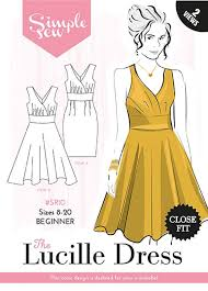 Simple Dress Pattern For Beginners Delectable Simple Sew Pattern The Lucille Dress SR448 4848 Abakhan