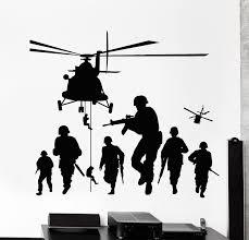 Vinyl <b>Wall</b> Decal <b>Soldiers</b> Patriot War Warrior <b>Helicopter</b> Stickers
