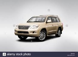 2008 Lexus LX LX570 in Gold - Front angle view Stock Photo ...