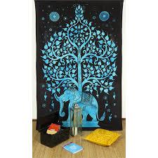 elephant tree of life tapestry hippie