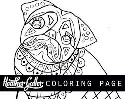 Small Picture Pug coloring page Etsy