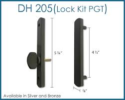 pgt handle lock kit for sliding glass doors image