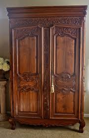 wardrobe closet armoire vintage shabby chic french armoire or wardrobe or ent center