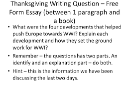 how did the changes caused by the second industrial revolution lay thanksgiving writing question form essay between 1 paragraph and a book what