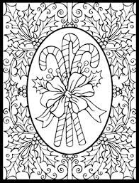 Christmas Coloring Pages Pdf With Difficult For Adults Free Library