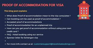 Proof Of Accommodation For Visa Application Updated 2018