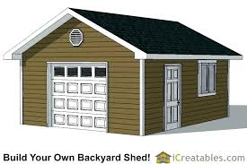 E Shed With Garage Door Plans Small Sizes For