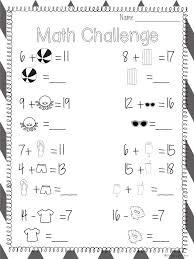 Missing Addend Worksheets First Grade - Checks Worksheet